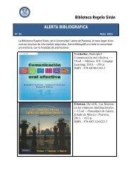 alerta bibliográfica - Biblioteca Ulatina - Universidad Latina de ...