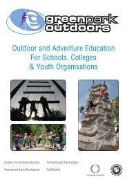 Outdoor education brochure - Buckinghamshire County Council