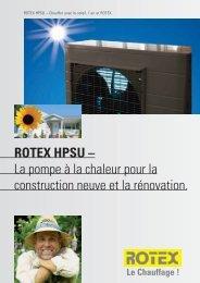 ROTEX HPSU – La pompe à la chaleur pour la ... - ITS-Services