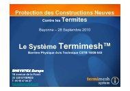 Le Système Termimesh™ - CTBA+ - Traitement et protection du bois