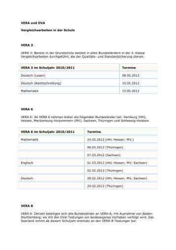 vergleichsarbeiten in der jahrgangsstufe 3 vera