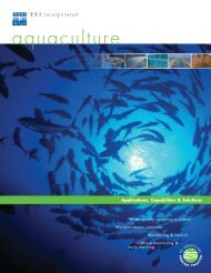 Aquaculture Applications, Capabilities & Solutions - YSI Systems