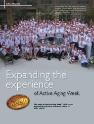 Expanding the experience of Active Aging Week - International ...