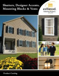 2013 Cellwood Designer Accents Catalog - Huttig Building Products