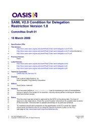 SAML V2.0 Condition for Delegation Restriction Version 1.0