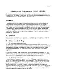 Arbeidsvoorwaardenakkoord Defensie 2009-2010 - Rijksoverheid.nl