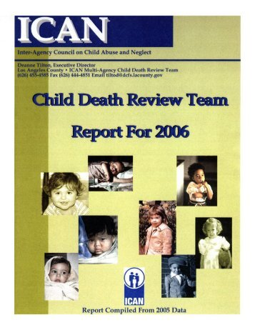 Undetermined Child Deaths – 2005 - ICAN Associates