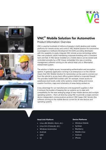 Final Mobile Solution for Automotive.pub - RealVNC
