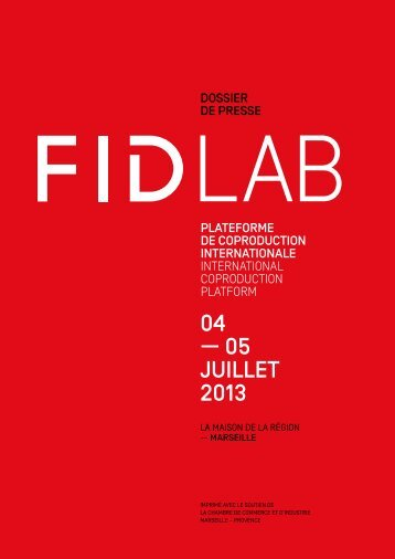 dossier de presse FIDLab - Festival international du documentaire ...