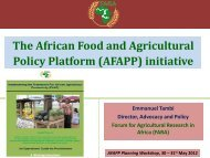 The African Food and Agricultural Policy Platform (AFAPP ... - FARA
