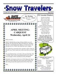 April 2013 - Fairbanks Snow Travelers
