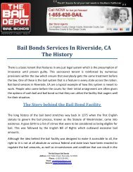 History of Bail Bonds Services In Riverside