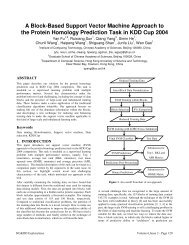 A Block-Based Support Vector Machine Approach to the Protein ...