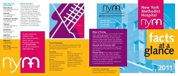 NYM Facts at a Glance - New York Methodist Hospital