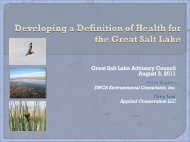 Developing a Definition of Health for the Great Salt Lake, by Erica ...