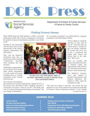 DCFS Press - Summer 2010.indd - Alameda County Social Services