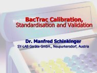 BacTrac Calibration, Standardisation and Validation - CRESCA