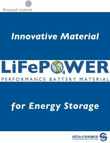 Life Power - Phostech Lithium inc.