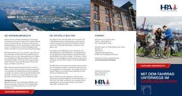 MIT DEM FAHRRAD UNTERWEGS IM ... - Hamburg Port Authority