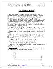 A.B. Seam Panel Overview - ABMartin.net