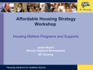 Affordable Housing Strategy Workshop - City of Terrace