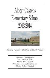 Albert Cassens Elementary School 2013-2014 - Edwardsville ...