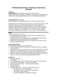 Facilitating learning: Teaching and learning methods - Faculty ...