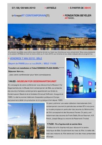 Programme Art Bâle - Connaissance de l'Art Contemporain