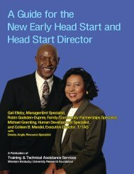 A Guide for the New Early Head Start and Head Start Director