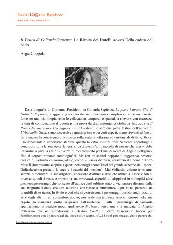 Documento allegato - Turin D@ms Review