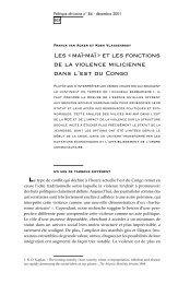 1/ dossier 84 - Politique Africaine