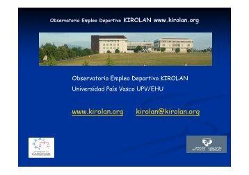 Observatorio Empleo Deportivo KIROLAN
