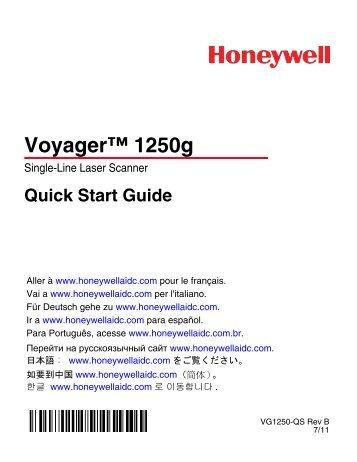 Voyager 1250g Quick Start Guide - Posnet