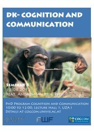 Program - PhD Programme Cognition and Communication