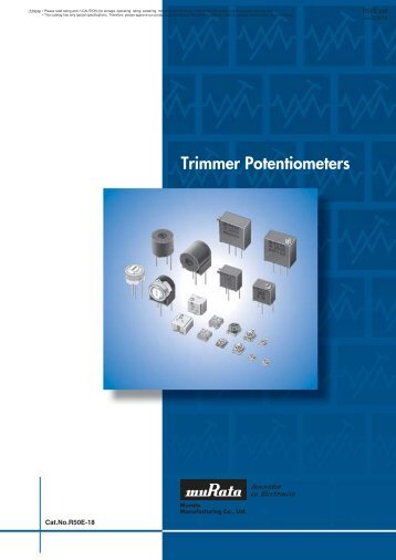 Trimmer Potentiometers (PDF: 1.4MB) - Murata