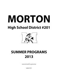 Summer School Brochure 2013.pdf - J. Sterling Morton High School ...