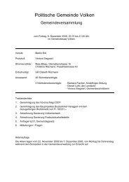 Protokoll vom 08.12.2006 - Gemeinde Volken