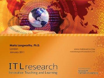 Maria Langworthy, Ph.D. - Education Leaders Briefing
