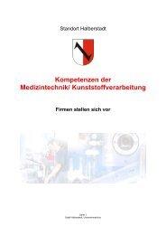 Kompetenzen der Medizintechnik/ Kunststoffverarbeitung - Halberstadt