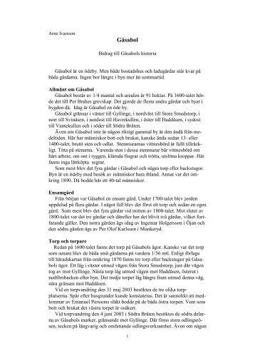 Gåsabol - Ödeshögs hembygdsbok