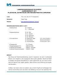 landeskrankenhaus feldkirch jahresbericht 2011 plastische ...