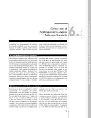 Comparison of Anthropometric Data to Reference Standards