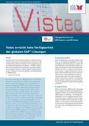 Vistec erreicht hohe Verfügbarkeit der globalen ... - IDS Scheer AG