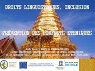 Droits linguistiques, inclusion et la prévention des conflits - Poliglotti 4