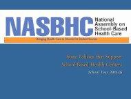 States that Define SBHC as Medicaid Provider - School-Based ...