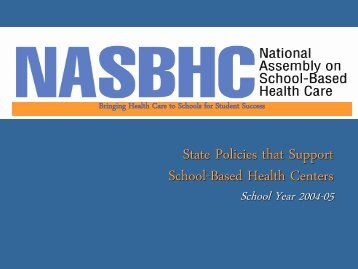 States that Define SBHC as Medicaid Provider - School-Based ...