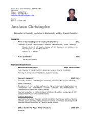 Ansiaux Christophe - Doctorat