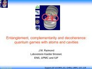 quantum games with atoms and cavities - Electrodynamique ...