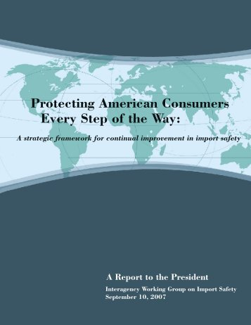 Protecting American Consumers Every Step of the Way - HHS Archive