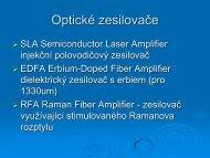 Optické zesilovače